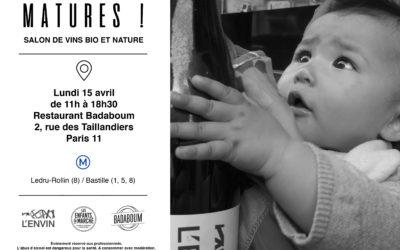 Matures ! Le premier salon pro de vins bio et nature de L'Envin