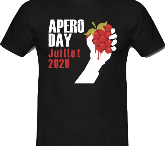 t-shirt officiel plus grand apéro du monde 2020