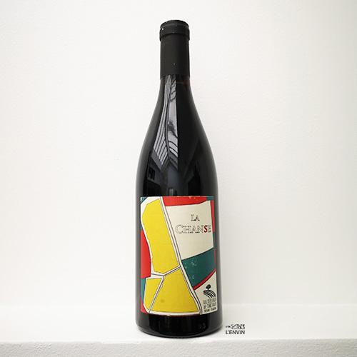 Bouteille du vin bio rouge La Chanse 2019 du domaine Les Déplaude de Tartaras Rhône Loire syrah distribué par l'envin lenvin agent sur paris ile de france loiret export