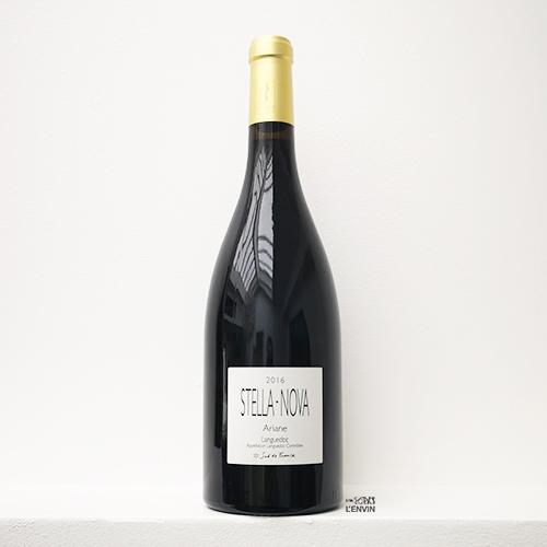Bouteille de vin rouge Ariane 2016, du vigneron philippe richy du domaine en biodynamie stella nova en Languedoc, distribué par l'envin agent sur paris ile de france loiret