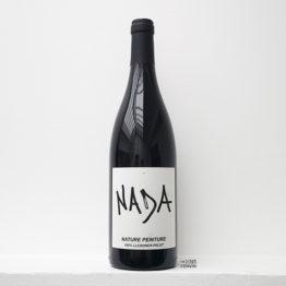 Bouteille de la cuvée Nature peinture 2018 produite par Raphaël Baissas de Chastenet de Nada Vandal Wine dans le Roussillon à Calce et distribué par l'envin agent et grossiste a à paris ile de france loiret