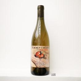 bouteille de la cuvée des sens avec photo de coccinelles 2020 le vin blanc à base de trois grenache de françois xavier dauré du domaine des lampyres dans le roussillon et distribué par l'envin agent grossiste sur paris ile de france loiret