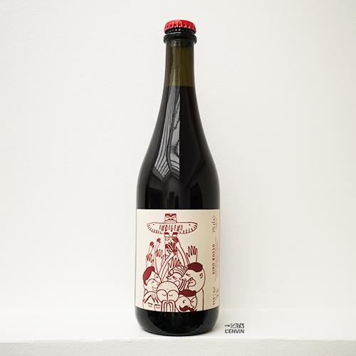 bouteille de vin rouge bio Indigeno Rosso 2019 de cantina indigeno un domaine situé dans les Abruzzes en italie et représenté par l'envin distributeur sur paris ile de france loiret