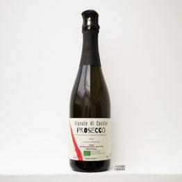 bouteille de Prosecco Naturale Brut un pet nat de vignale di cecilia un domaine en biodynamie en venetie italie et représenté par l'envin distributeur sur paris ile de france loiret vin bio