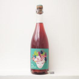 bouteille de pet'nat rosé Cap de Pardals de mas candi de catalogne en espagne distribué par l'envin, agent et grossiste de vin bio et naturel à paris, en ile de france et loiret
