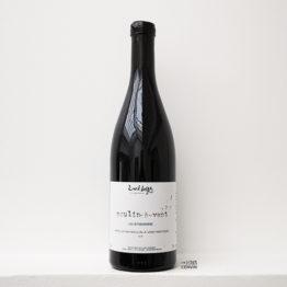 bouteille de la cuvée Moulin à vent 2018, vin rouge de gamay du vigneron David Large dans le beaujolais distribué par L'envin agent et grossiste en vin bio et nature sur paris ile-de-france loiret
