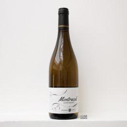 Bouteille de la cuvée Montracul 2017 blanc à base jacquère du vigneron Jérémy Dupraz du domaine Dupraz situé à Apremont en Savoie - agent grossiste vin bio paris ile de france loiret