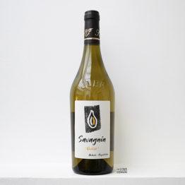 Bouteille de vin blanc ouillé savagnin 2019 du vigneron Kevin Bouillet en Arbois dans le Jura et distribué par l'agence l'envin sur paris ile de France loiret export