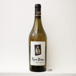 Bouteille de vin blanc pépin blanc 2018 du vigneron Kevin Bouillet en Arbois dans le Jura et distribué par l'agence l'envin sur paris ile de France loiret export