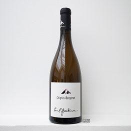 Bouteille de vin blanc Chignin Bergeron 2019, du vigneron Paul Gadenne du domaine en agriculture biologique à Chignin en Savoie, distribué par l'envin agent sur paris ile de france loiret lenvin