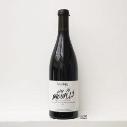 bouteille de la cuvée Côte de Brouilly AOP 2019, vin rouge de gamay du vigneron David Large dans le beaujolais distribué par L'envin agent et grossiste en vin bio et nature sur paris ile-de-france loiret