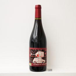 bouteille de Départ en vacances rouge 2019, un vin biologique du vigneron Carlos Badia de La Cave aux fioles dans le Roussillon et distribué par l'agence L'envin grossite en vins bio et nature sur paris ile de france loiret export