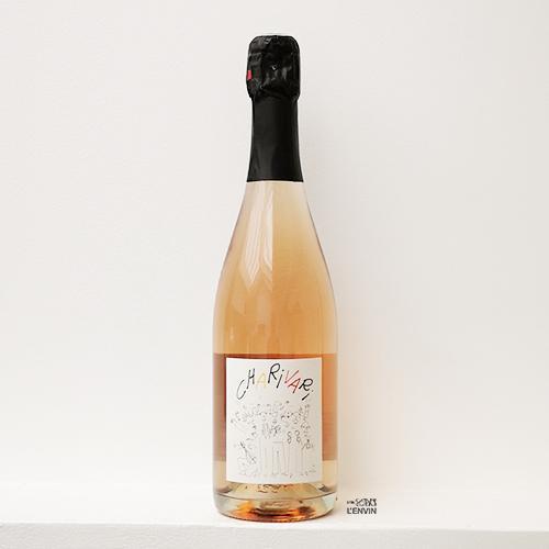 bouteille de pet'nat rosé Charivari 2019 de la vigneronne Anne-Cécile Jadaud du domaine Perrrault-Jadaud dans la Loire et distribué par l'agence de vins bio et nature l'envin sur paris ile de france loiret export