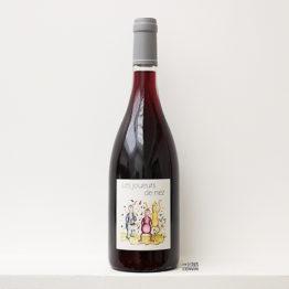 bouteille de vin rouge Les joueurs de nez 2019 de la vigneronne Anne-Cécile Jadaud du domaine Perrrault-Jadaud dans la Loire et distribué par l'agence de vins bio et nature l'envin sur paris ile de france loiret export
