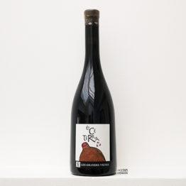 Bouteille de vin rouge Et Ce Terra 2017 élevé en amphore du domaine Les Grandes Vignes de la famille Vaillant dansla Loire, distribué par l'envin agent et grossiste en vin bio et nature sur paris ile de france loiret export