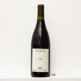 bouteille de vin rouge Rossetto 2019 de azienda agricola ajola un domaine situé en Ombrie en italie et représenté par l'agence l'envin distributeur grossiste agent sur paris ile de france loiret