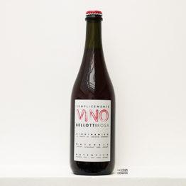 bouteille de vin rosé Semplicemente Vino Bellotti Rosato de cascina degli ulivi un domaine situé dans le Piemont en italie et représenté par l'agence l'envin distributeur grossiste agent sur paris ile de france loiret
